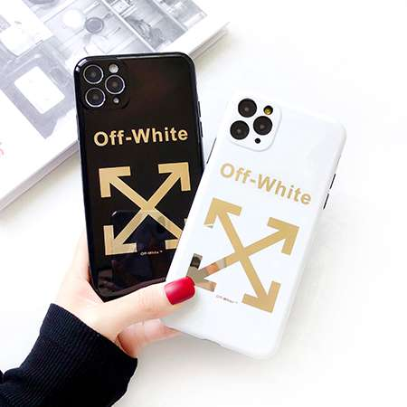 かっこいい 個性 off-white iphone11/11Pro Maxケース